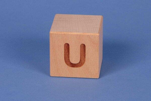 Cubes en lettres U positive