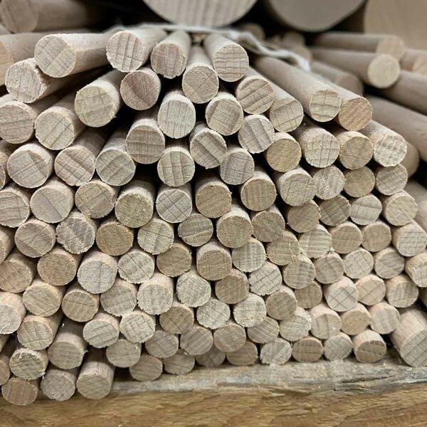Tiges de bois ronde Ø 8 mm 20 pièces 100 cm de long