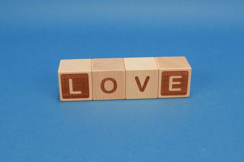 Cubes en lettres Sets