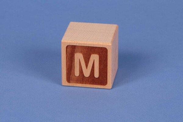 Cubes en lettres M négatif