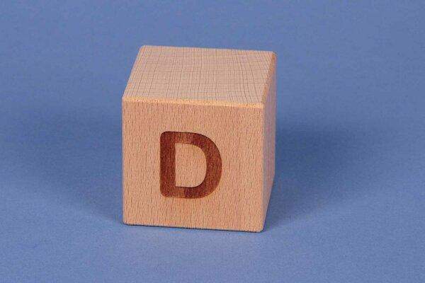 Cubes en lettres D positive