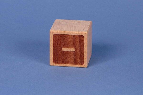 Cubes en lettres minus négatif