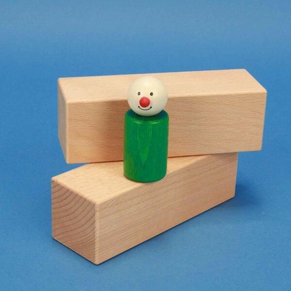 cubes en bois 13,5 x 4,5 x 4,5 cm hetre
