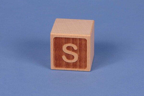 Cubes en lettres S négatif