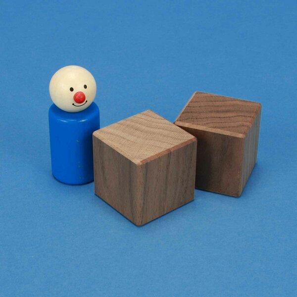 cubes en bois noyer 4 cm