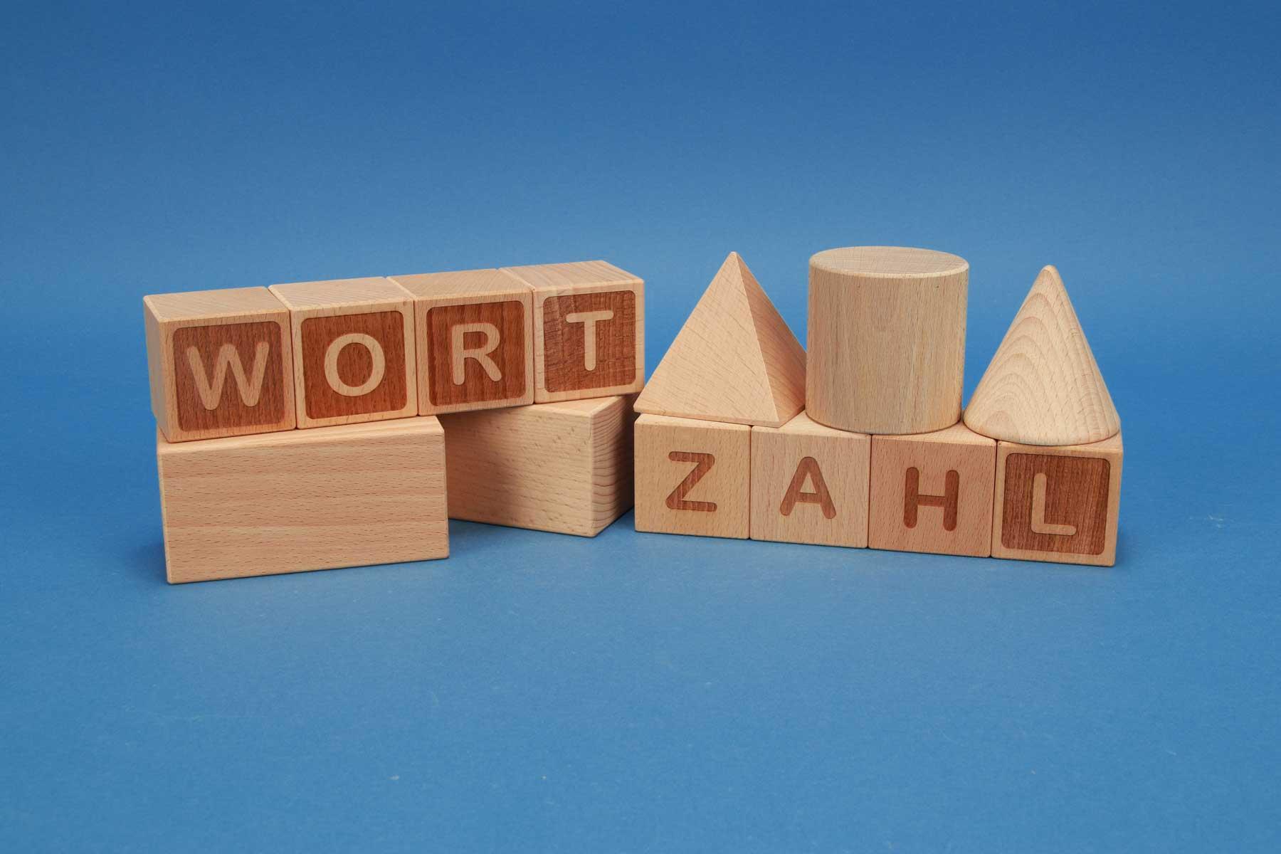 Cubes en lettres A-Z bois de hetre 4,5 cm