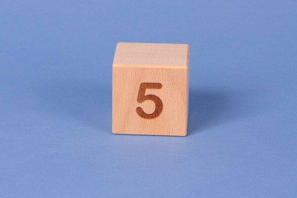 Cubes en lettres 5 positive