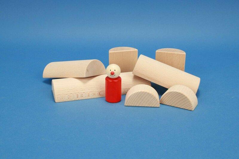 demi cylindres en bois Ø 6 cm