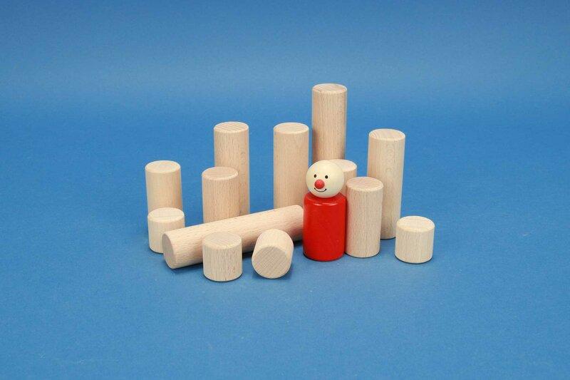 cylindre en bois Ø 1 inch
