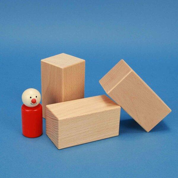 cubes en bois 9 x 4,5 x 4,5 cm hetre