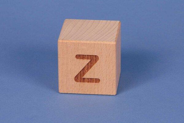 Cubes en lettres Z positive