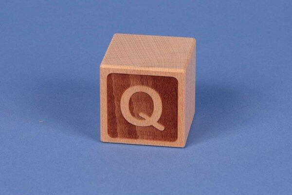 Cubes en lettres Q négatif