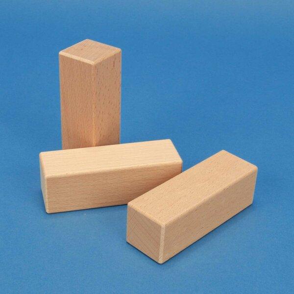 cubes en bois 9 x 3 x 3 cm