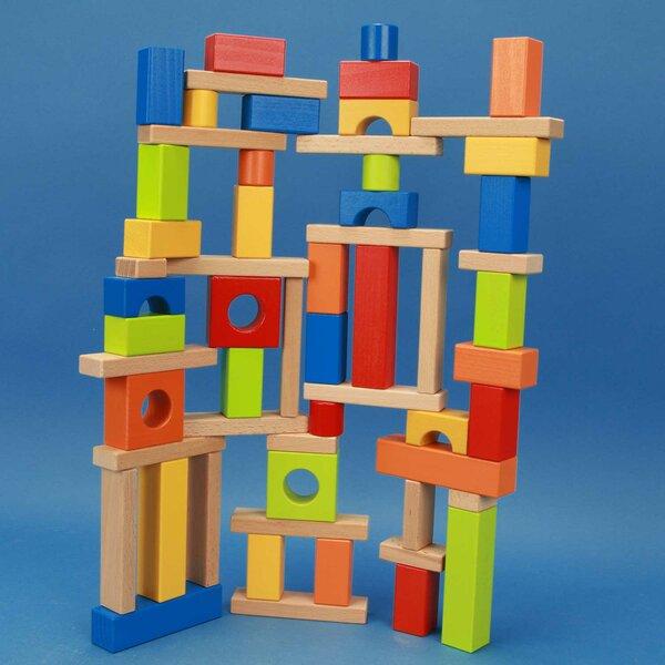 jouet de cubes en bois coloré