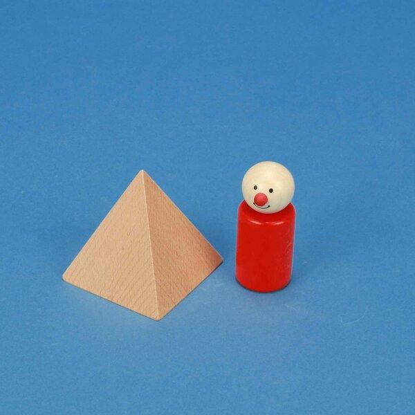 Pyramide grande en hêtre 6 x 6 x 6 cm