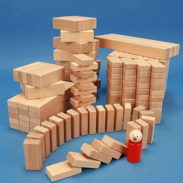Jeu de 300 blocs de bois de la serie 3 x 1,5 cm