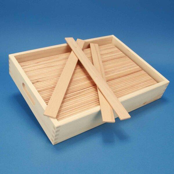2x Le Pont de Leonardo de cubes en bois