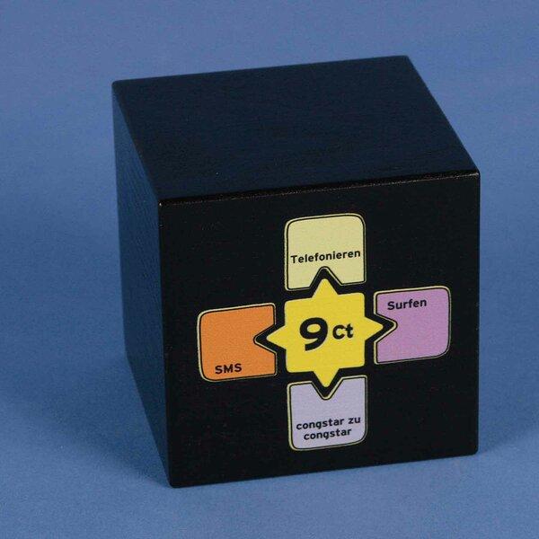Impression digitale en 4C sur cube de bois