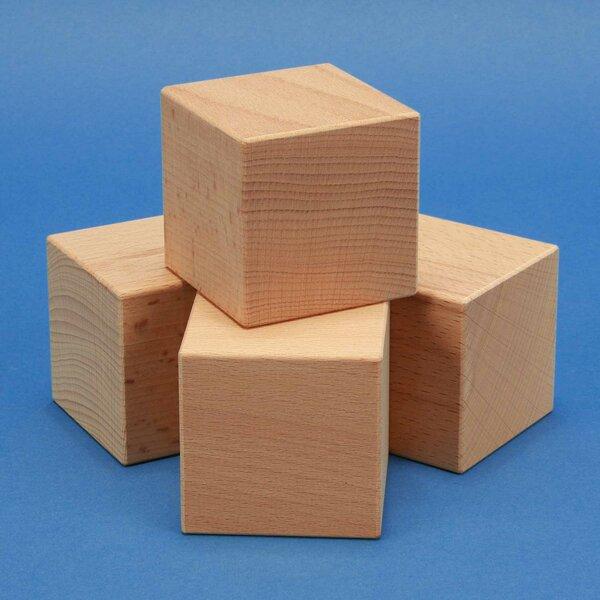 Solides géométriques cubes 6 cm