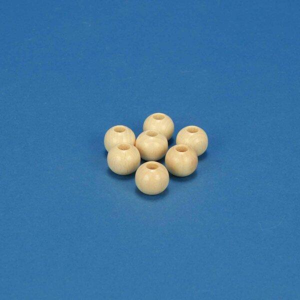 100 perle en bois Ø 15mm percés 7mm