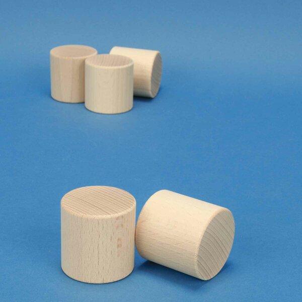 Cylindre en hêtre Ø 4,5 x 4,5 cm