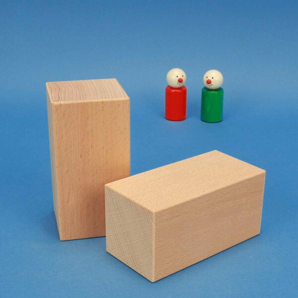 blocs de construction en bois grands 12 x 6 x 6 cm
