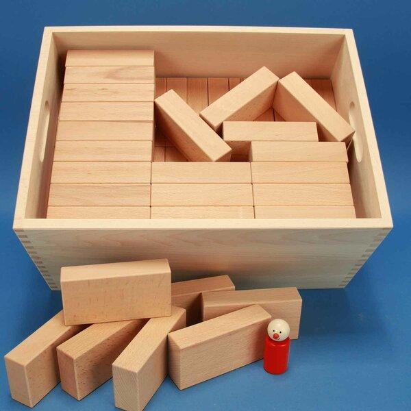 Jeu de cubes en bois Fröbel-Spécial 85 dans caisse laserengraved