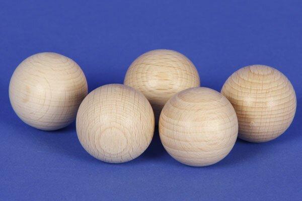 Sphères en bois Ø 30 mm percés 6 mm