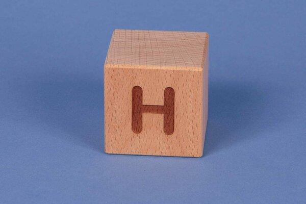 Cubes en lettres H positive
