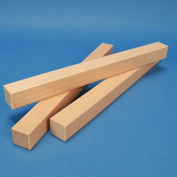 cubes en bois carrés 36 x 3 x 3 cm