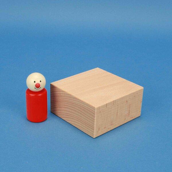 cubes de construction en bois grands 9 x 9 x 4,5 cm