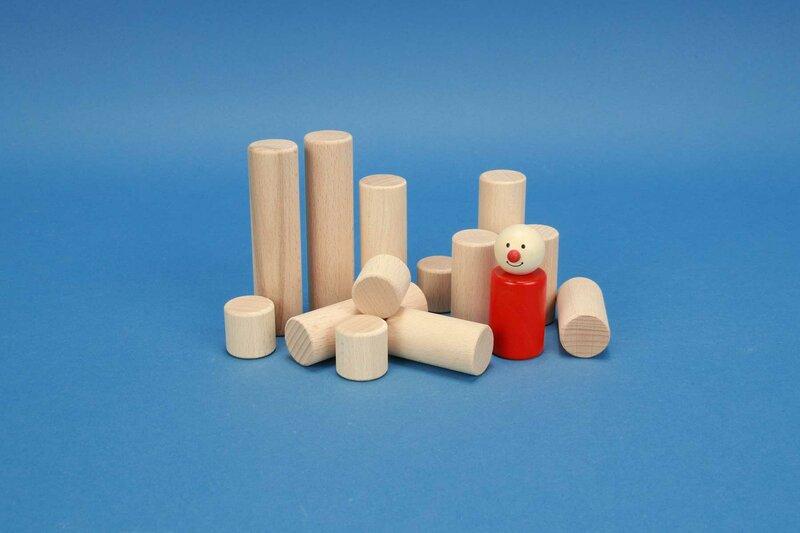 cylindre en bois Ø 2,5 cm