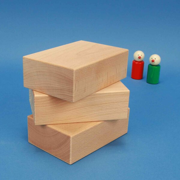 cubes de construction en bois grands 13,5 x 9 x 6 cm