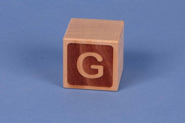 Cubes en lettres G négatif