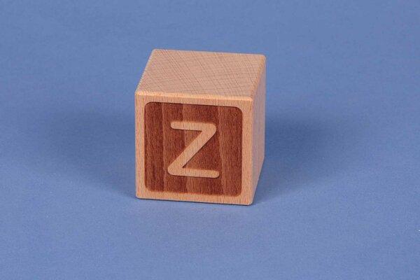 Cubes en lettres Z négatif
